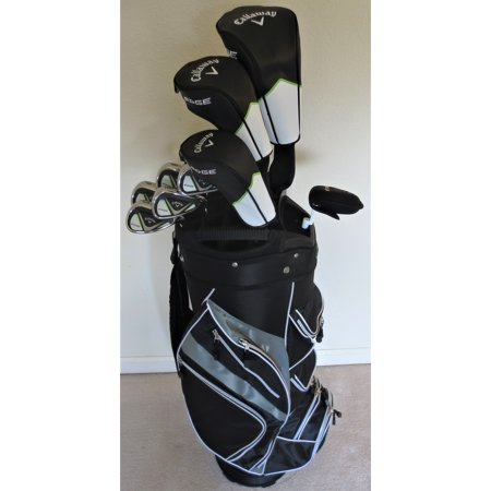 Mens Callaway Complete Golf Set - Driver, Wood, Hybrid, Irons, Putter, Cart Bag Regular Flex (Callaway Drivers 815)