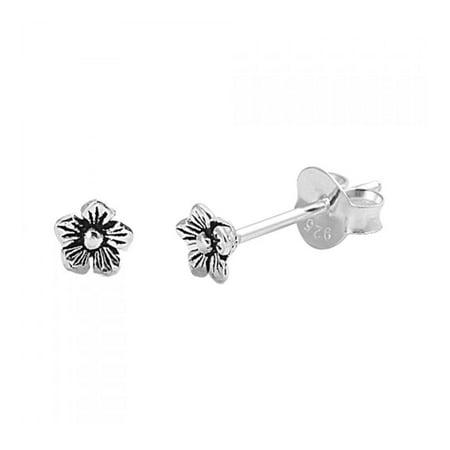 925 Sterling Silver Flower Stud Earrings (Zina Sterling Silver Earrings)