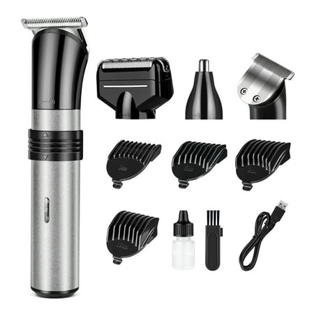 Hair Clipper Electric Beard Shaver Nose Ear Hair Trimmer Cutter For Home Use USB Rechargeable Washable 3/6/9/12mm Adjust