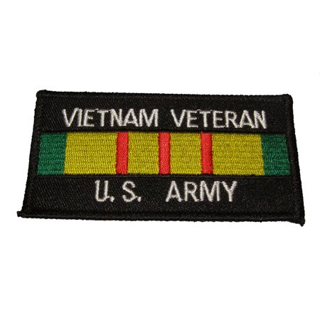 VIETNAM VETERAN U.S. ARMY with Vietnam Service Ribbon Patch - Color - Veteran Owned Business.
