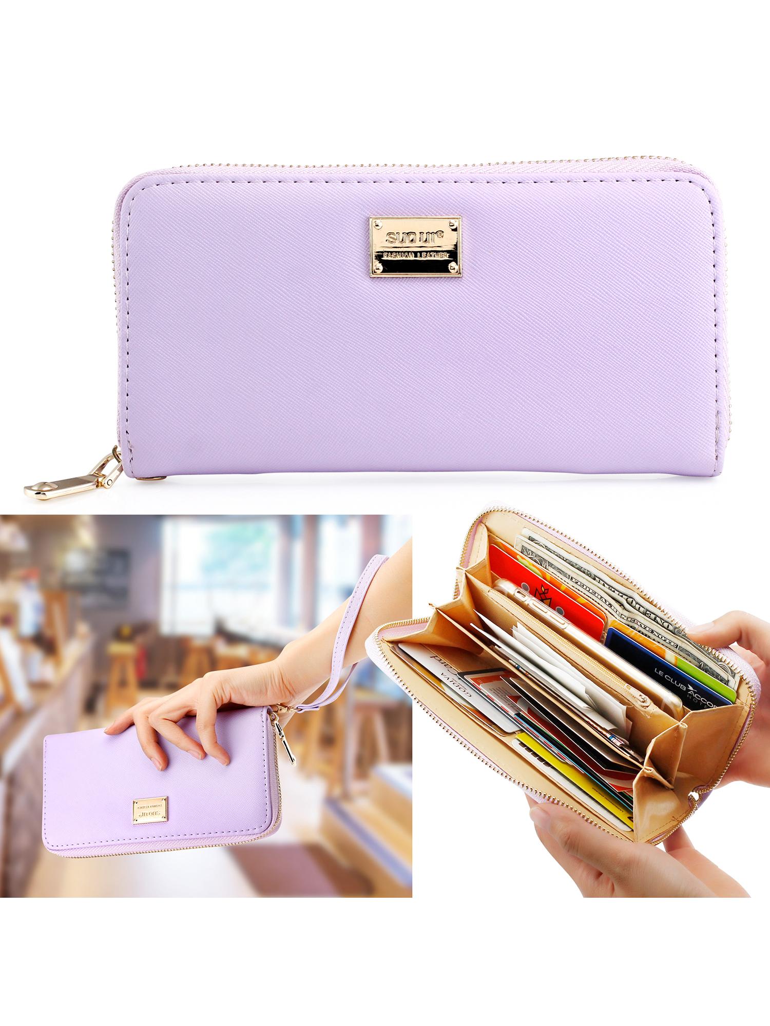 Fashion Lady Full Zipper Faux Leather Women Wallet Clutch Long Purse Card Holder Handbag