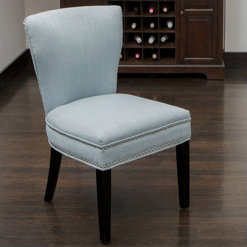Trent Home Johnathan Accent Dining Chair in Ocean Blue