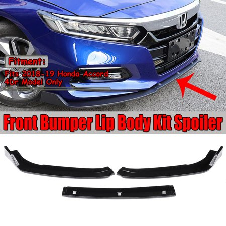 Front Bumper Chin Lip Spoiler Splitter For 2018-19 Honda Accord 4DR (No Installation Instruction) ()