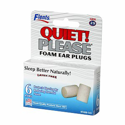 Flents Quiet Please Foam Ear Plugs - 6 Pair