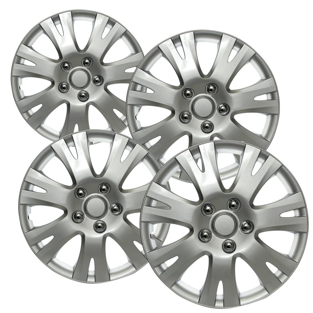 "OxGord 16"" inch Silver Wheel Covers for 2009-2013 Mazda 6 - Set of 4"