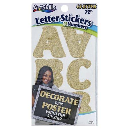 ArtSkills, ArtSkills Glitter Letter Stickers & Numbers, 72 pieces - Glitter Letter Stickers