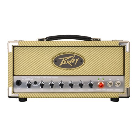 Tube Guitar Head (Peavey Classic 20 MH Mini Head Amplifier Electric Guitar 20W Tube Amp Head - Factory Certified Refurbished)