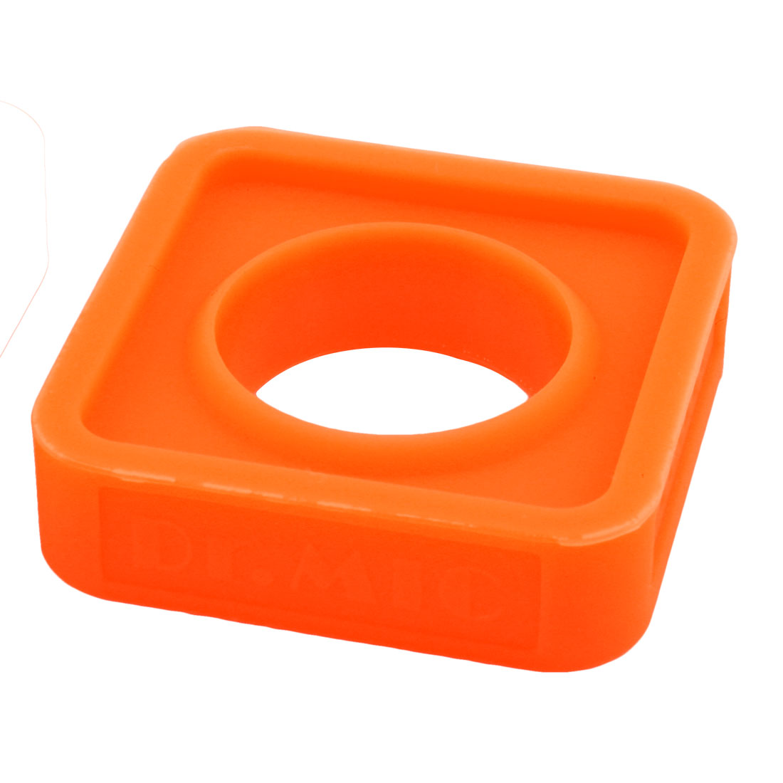 Home KTV Silicone Rectangle Shake Resistant Microphone Protection Ring Orange