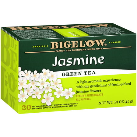 (6 Boxes) Bigelow, Jasmine Green, Tea Bags, 20 Ct