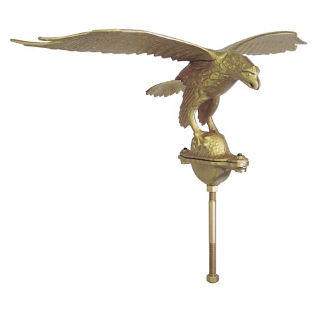 Outdoor Gold Flagpole Eagle - 10in Tall with 24in Wingspan ()
