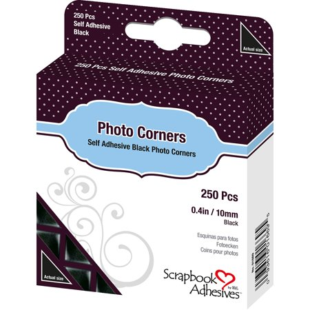 Scrapbook Adhesives Photo Corners Self-Adhesive .375
