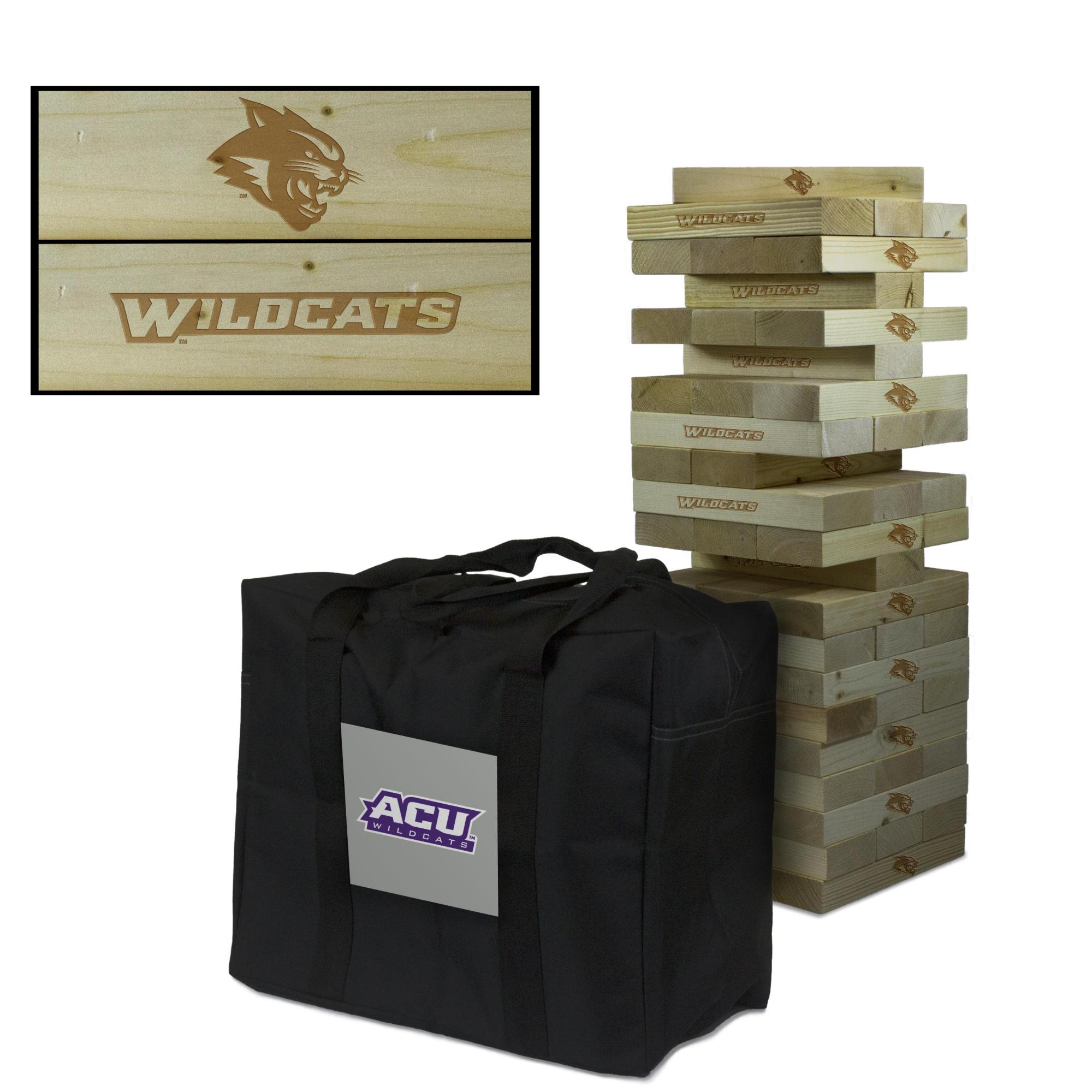Abilene Christian University Wildcats Giant Wooden Tumble Tower Game