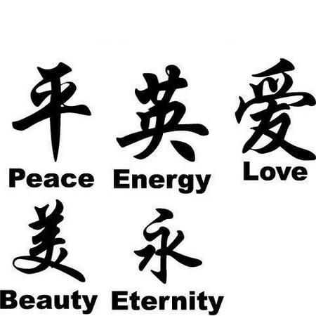 Chinese Symbol, Vinyl Wall Art Decal Wall Art