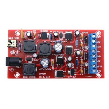 DIY USB Boost Single Turn Dual Power Supply Module Linear
