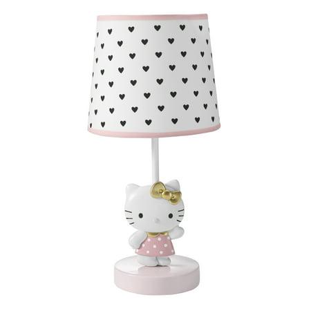 Hello Kitty Luv Hearts Lamp with Shade & Bulb