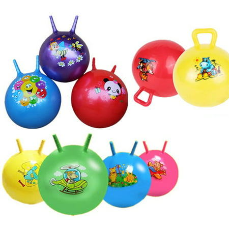1 Kids Inflatable Hopper Ball Hippity Hop Bouncy Jumping Ride Toy Bouncer Handle