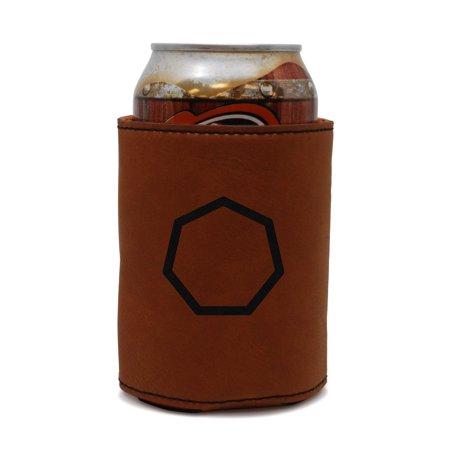 Heptagon Leather Can Sleeve, Beer Sleeve, Beer Cooler, Beer Hugger