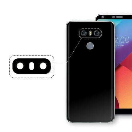 TSV Rear Back Camera glass Lens Cover For LG G6 black Ice Platinum White - White Glass Lens