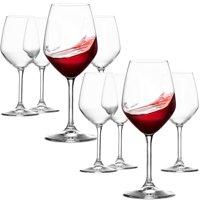 ShopoKus Italian Red Wine Glasses - 18 Ounce - Lead Free - Wine Glass Set of 8, Clear