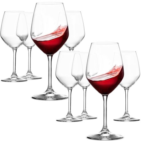 ShopoKus Italian Red Wine Glasses - 18 Ounce - Lead Free - Wine Glass Set of 8,