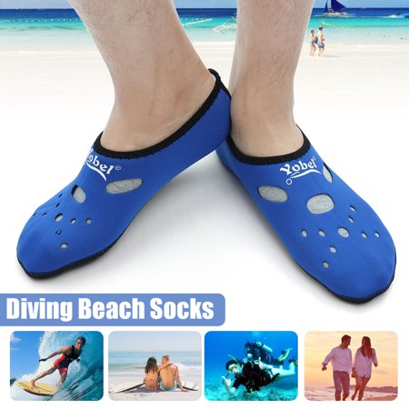 Lightweight Watersports Socks Barefoot Water Skin Shoes Aqua Socks for Beach Swimming Surfing Snorkeling Diving