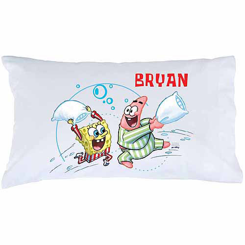 Personalized Spongebob Squarepants Pillow Fight Pillowcase Walmart Com Walmart Com