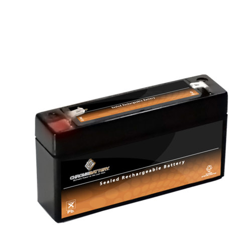 Chrome Battery S00023-00000 6V 3.4AH Sealed Lead Acid Battery - T1 Terminals - for ZB-6-3.4
