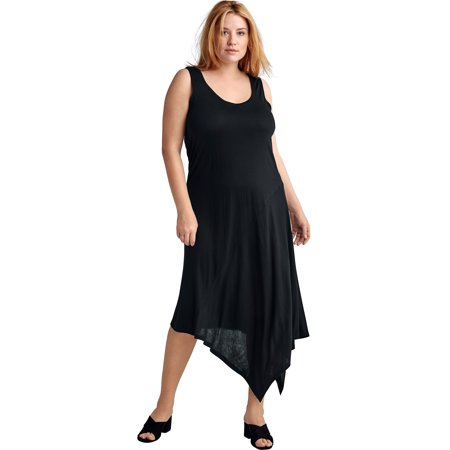 Ellos Plus Size Hanky Hem A-line Dress