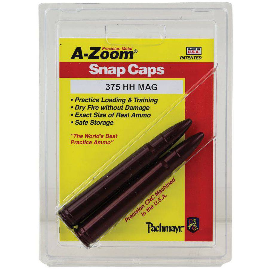 A-Zoom 12248 Snap Caps Rifle 375 Holland and Holland Magnum Aluminum, 2-Pack