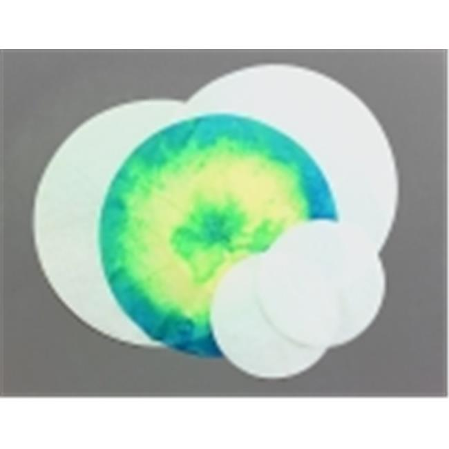 18 in. Pre-Cut Circle Color Diffusing Paper, White, Pack - 100