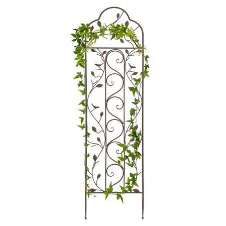 Best Choice Products 5' Iron Arched Garden Trellis - Bronze ()