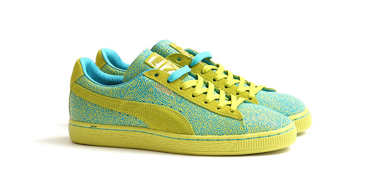 Women's Solange Suede Classic Lines Sulphur Spring/Blue Atoll 35801702