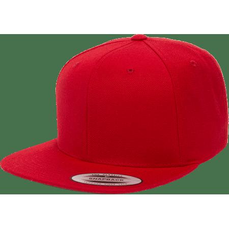 da140752907f6 Yupoong - The Hat Pros Snapbacks Flexfit Pro-Style Snapback Hats w  Green  Underbill 6089M (Red) - Walmart.com