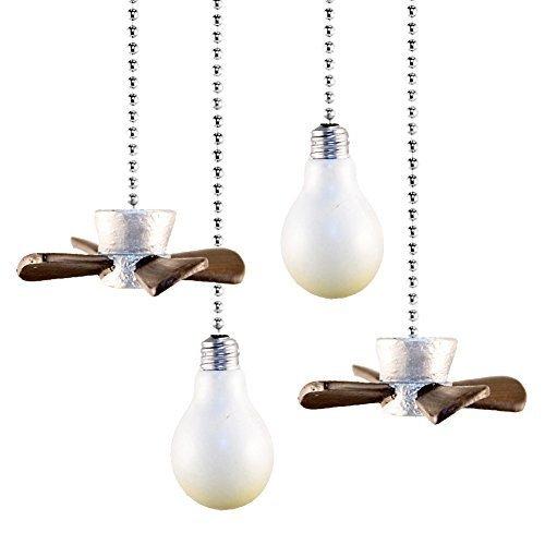 Set Of 4 Decorative Fan And Light Pulls
