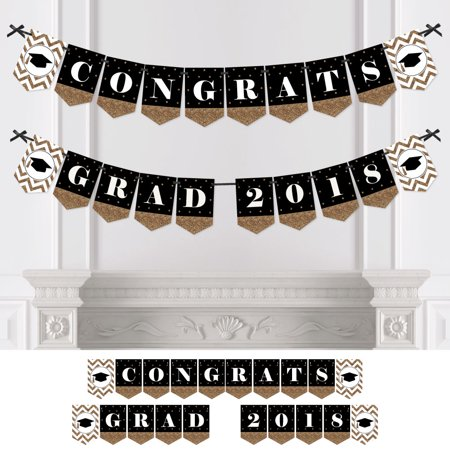 Gold Tassel Worth The Hassle - Graduation Party Bunting Banner - Gold Party Decorations - Congrats Grad 2018 - Graduation Party Items