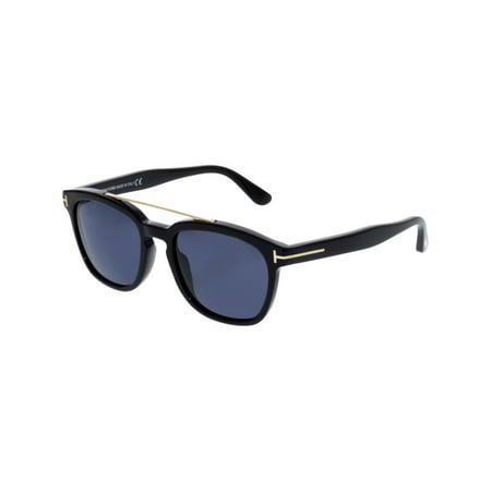 Tom Ford Men's Holt FT0516-01A-54 Black Rectangle Sunglasses