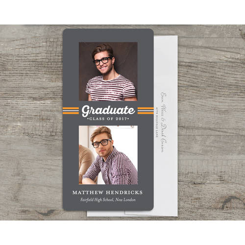 Spirited Grad Deluxe Graduation Announcement