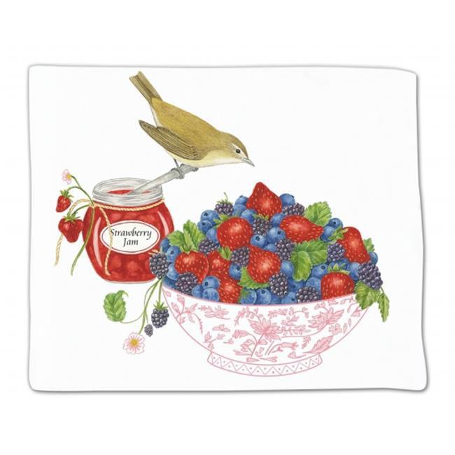 Alices Cottage ACU34446 Berry Bowl Flour Sack Towel - Single