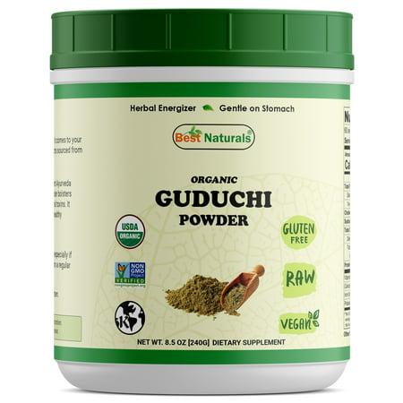 Best Naturals Certified Organic Guduchi Powder 8.5 OZ (240 Gram), Tinospora Cordifolia, Non-GMO Project Verified & USDA Certified