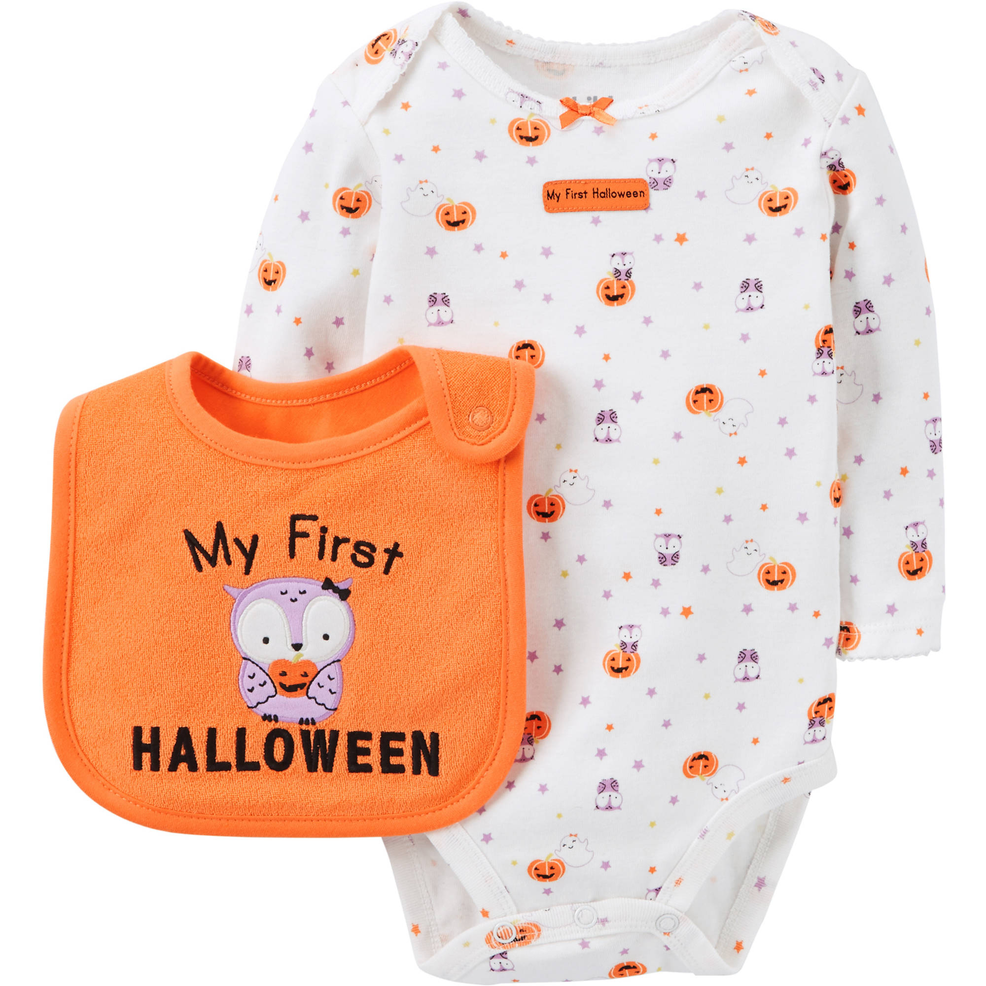 Child of Mine by Carter's Newborn Baby Girl's First Halloween Bodysuit And Bib Set