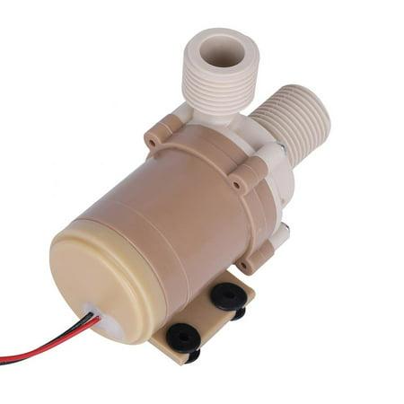 Quite 12V DC Solar 100℃ Hot Circulation Water Pump Brushless Motor 1/2  Couplers,Hot Circulation Water Pump, Brushless Motor 1/2  (Pump Coupler)