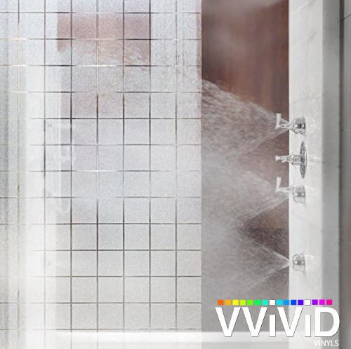 White Frosted Squares Privacy Window Decal Contact Paper Static Non-Adhesive Sticker Decorative Office, Bathroom & House Film Wrap VViViD - Choose Your Size