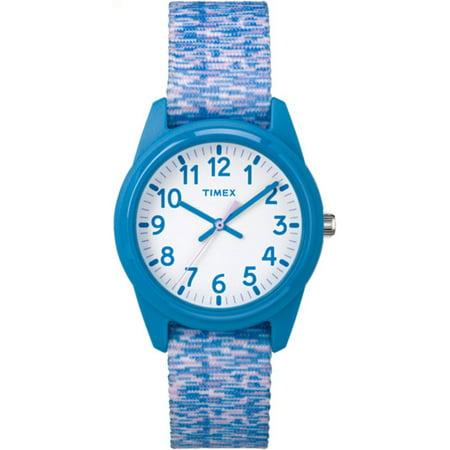 Timex Girls Time Machines Blue Purple White Sport Watch  Elastic Fabric Strap