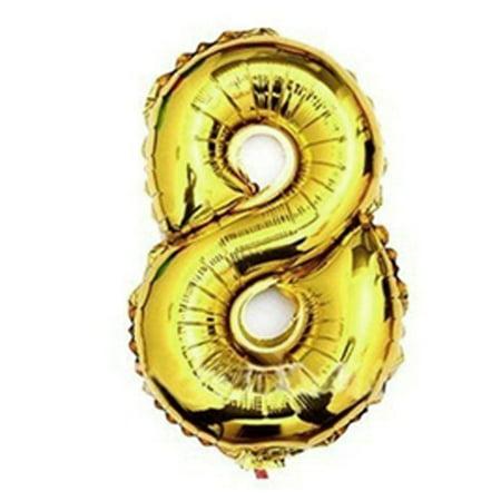 "Unique Bargains Foil Number 8 Shape Helium Birthday Wedding Decor 16"" Balloon"