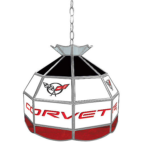"Trademark Global Corvette C5 16"" Stained Glass Tiffany Lamp Light Fixture"