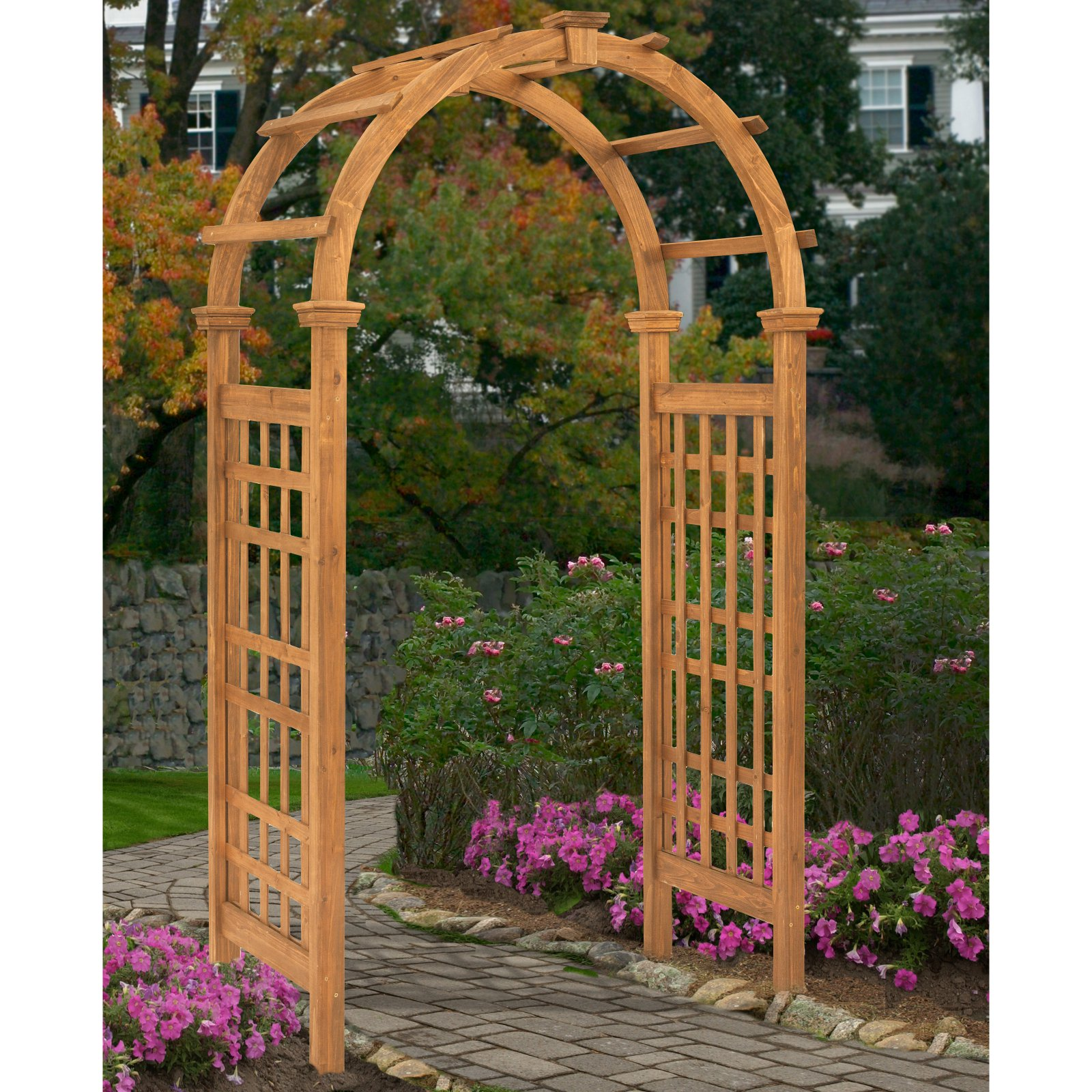 New England Arbors Rosewood Pergola Arbor by New England Arbors