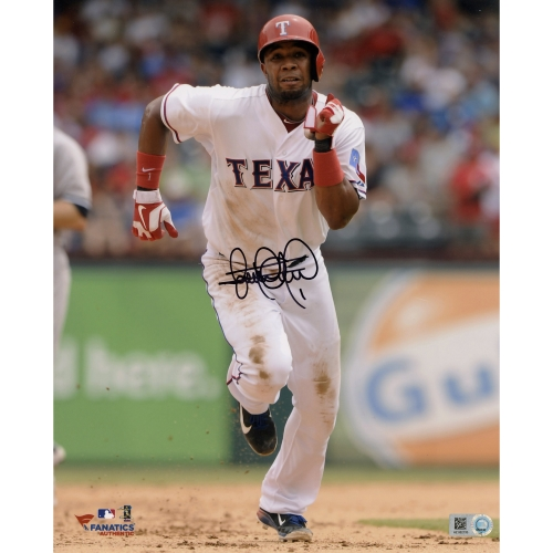 "Elvis Andrus Texas Rangers Fanatics Authentic Autographed 8"" x 10"" Running Face On Photograph - No Size"