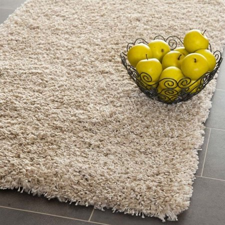 "Hawthorne Collection Beige Shag Rug - Runner 2'3"" x 5' - image 1 of 1"