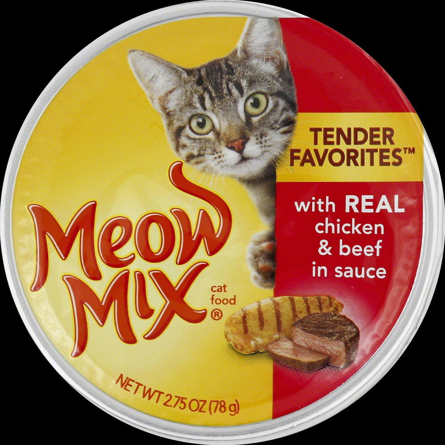 Meow Mix Tender Favorites Chicken & Beef in Sauce Wet Cat ...