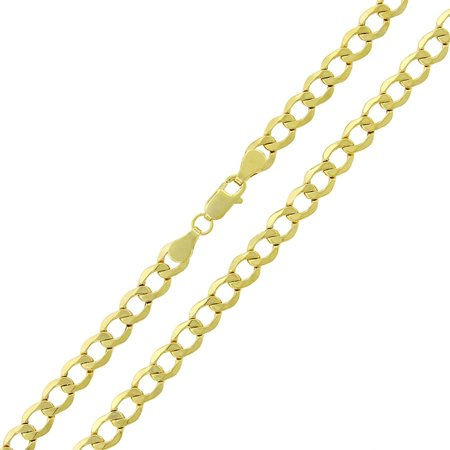 "14k Yellow Gold 5.5mm Hollow Cuban Curb Link Necklace Chain 18"" - 24"""